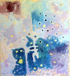 """Pintura 169"". Óleo sobre papel 56 x 52 cms, 2005."