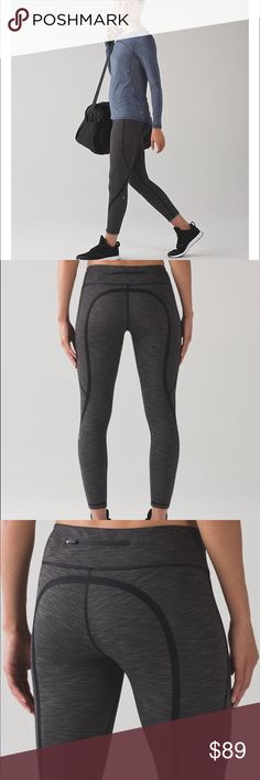 NWOT lululemon On Track Tight sz 6 New without tags! Very lightweight, quick drying Luxtreme fabric. 7/8 length. Has zipper pocket in back waistband and gorgeous scallop detailing around the zipper. Very flattering seaming. lululemon athletica Pants Leggings