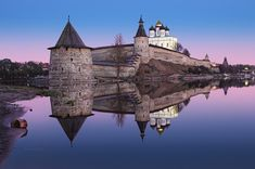 The Trinity Cathedral in Pskov is located in the Pskov Krom or Kremlin on the east bank of the Velikaya (Great) River. It has, since 1589, been the mother church of the Pskov Eparchy.
