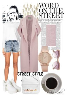 """Long Coat"" by sahni-leila ❤ liked on Polyvore featuring Alexis, T By Alexander Wang, Monki, adidas, Bunn, River Island, ALDO, Lavish Alice and StreetStyle"