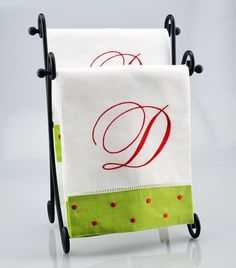 "Made with ""Monogram Works,"" embroidery software.  This is a Christmas towel tutorial."