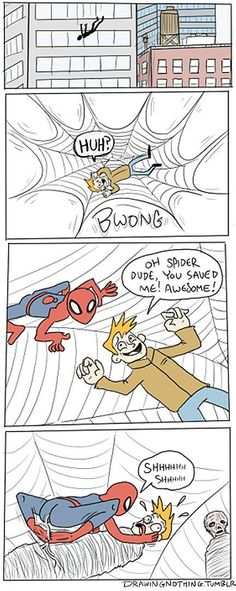 If Spiderman possessed the feeding habits of a spider. 10/10 would watch