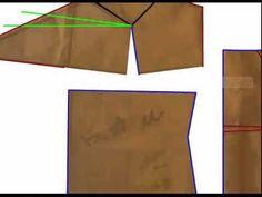 Modelagem de uma blusa com alças e bojo transpassado - Correção de exerc...