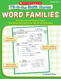 Word Families: 50 Cloze-Format Practice Pages That Target...