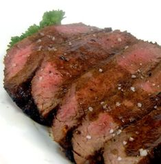 Grilled Flank Steak with Coffee Sauce