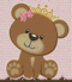 Barbie, Teddy Bear, Animals, Drawing Things, Stuff To Draw, Baby Knitting, Bears, Punto De Cruz, Dots