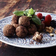 Ricotta chokladbollar med valnötter