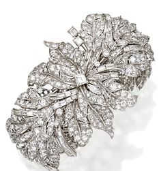 Plantinum and diamond bracelet