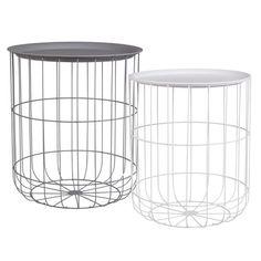 Beistelltisch metall draht weiß  Beistelltisch aus Holz und Metall, grau, JAR Jetzt bestellen unter ...