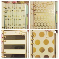Price is for 1 dashboard. Very elegant laminated dashboards for your Personal size Filofax or similar planner. Gold foil or metallic accents.