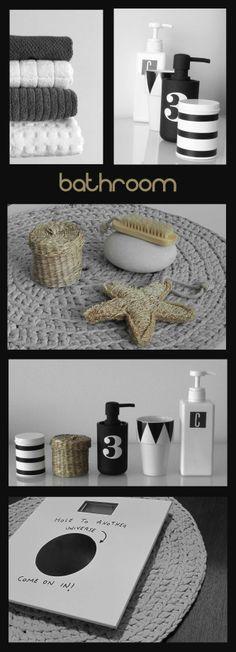 Baño, B&W, accesorios baño