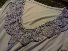 Sew It Up Silk Tshirt Embellishments