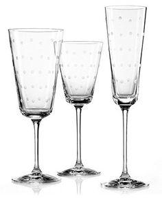 kate spade new york Larabee Dot Iced Beverage Glass - Glassware - Dining & Entertaining - Macys Bridal and Wedding Registry #macysdreamfund
