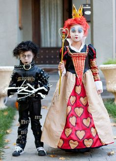 Edward Scissorhands + Queen of Hearts Halloween Costumes.
