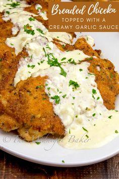 Think Food, I Love Food, Food Dishes, Main Dishes, Food Food, Food Platters, Creamy Garlic Sauce, Garlic Sauce For Chicken, Cream Sauce For Chicken