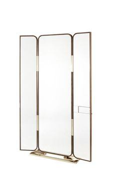Triple Je(u) Tryptish Mirror — Philippe Hurel - Designer of Fine Furniture Hair Salon Interior, Spa Interior, Boutique Interior, Shop Interior Design, Interior Decorating, Bathroom Interior, House Design, Partition Screen, Partition Design