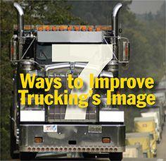 7 ways to improve trucking's image