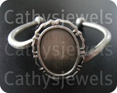 Bracelet Blank Setting Antique Silver