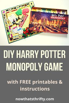 Create your DIY Harry Potter Monopoly Game with our step by step tutorial and FREE printables. Make this game for any Harry Potter lover! Monopoly Harry Potter, Harry Potter Games, Harry Potter Classroom, Monopoly Game, Harry Potter Hogwarts, Anniversaire Harry Potter, Diy Games, New Things To Learn, Board Games