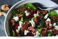 Nødde - Blomme salat med cashewnødder valnødder og agavesirup Treat inspirations opskrifter