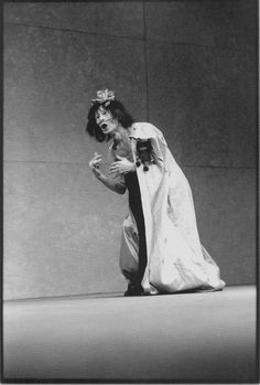 "Kazuo Ohno, Dead Sea, 1985. Photograph by Nourit Masson-Sekine. ""The dead start running..."""