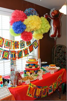 sesame street party idea I bet I can make that birthday sign