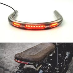 Seat Frame Hoop Loop Brat Style with LED Brake Turn Singal Light for Cafe Racer