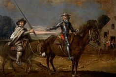 Primera pintura a nivel mundial, que representa a Don Quijote y Sancho Panza. La pintura se vendió por 3,5 millones de dólares en 2011