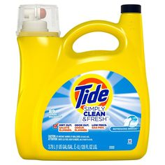 Tide Simply Clean, Baking Soda Laundry, Tide Laundry Detergent, Detergent Bottles, Tide Pods, Household Cleaning Supplies, Simple, Breeze, Cleanser