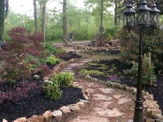 PinMyDreamBackyard landscaping with rocks - Bing Images Stone Landscaping, Landscaping With Rocks, Landscaping Plants, Landscaping Ideas, Lawn And Garden, Garden Paths, Outdoor Stone, Outdoor Areas, Stone Path