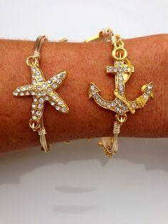 ℒᎧᏤᏋ this pretty Under The Sea gold bauble bangle..Via LuELsDecor on Etsy, $14.99 ღ❤ღ