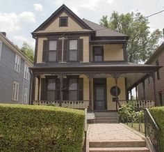 The childhood home of Martin Luther King Jr  in the Old Fourth Ward neighborhood of Atlanta, Georgia #O4W