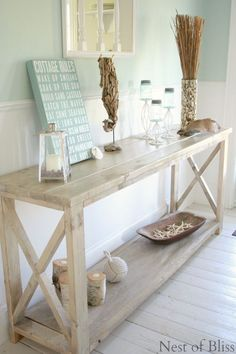 DIY Create The Look Of Weathered Wood With Stain! @nestofbliss