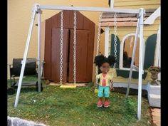 Dollhouse Miniature Swing-set - YouTube