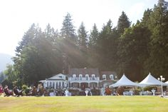 wedding at rowena- cute tents for some shade
