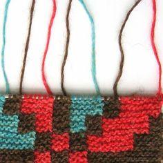 Icelandic intarsia knitting