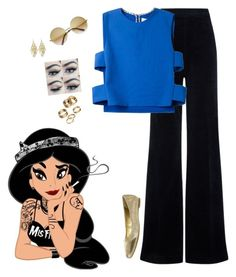 """Disney Dark Sides ~ Jasmine"" by hanakdudley ❤ liked on Polyvore featuring AG Adriano Goldschmied, Novis, City Classified, Apt. 9 and Alexia Crawford"
