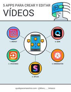 AYUDA PARA MAESTROS: 5 apps para crear y editar vídeos Apps, Classroom, Technology, Education, Velasco, Marketing Ideas, Twitter, Educational Software, Interactive Activities