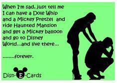 Disney World Makes the Sad Go Away - Disn-E-Cards