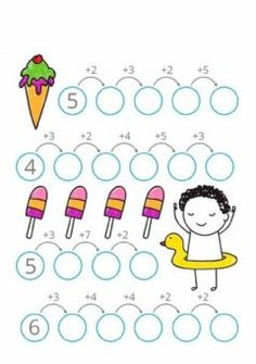 Interactive worksheets maker for all languages and subjects Kindergarten Math Worksheets, Teaching Math, Preschool Activities, Math School, Primary Maths, Basic Math, 1st Grade Math, Math For Kids, Math Lessons
