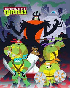 "Some ""Samuari Turtles"" by @jbrenthill !!!! #NinjaToitles #TMNT #NinjaTurtles #TeenageMutantNinjaTurtles #TheShredder #MasterSplinter…"