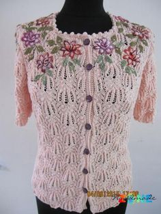 jacheta DOLORES Viria, Handmade Clothes, Free Pattern, Knit Crochet, Knitting, Sweaters, Fashion, Embroidery, Tricot