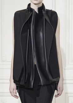 Rad Hourani Haute Couture Spring Summer 2013  The beauty of the whole black texture layering is infinite.