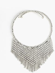 Silver Chainmail Collar Necklace