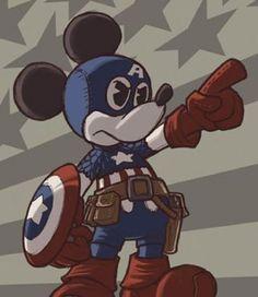 Captain America Mickey