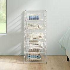 Plastic Storage Drawers You'll Love in 2020 Plastic Storage Drawers, 5 Drawer Storage, Rolling Storage, Metal Drawers, Drawer Handles, Storage Chest, Closet Drawers, Closet Storage, Easy Bathroom Updates