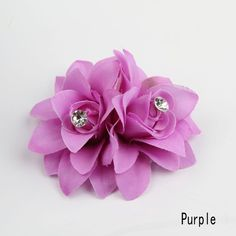 Chic Hair Accessories Wholesale 10 Colors Flower Clip Hairpin For Bridal Wedding Prom Party Gift For Girls Headwear-0040