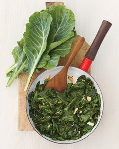 Collard Greens sauteed with garlic, olive oil and red pepper flakes. The way these greens should be cooked. This is one of the most nutrient rich vegetables we can eat. Be healthy & be simple.