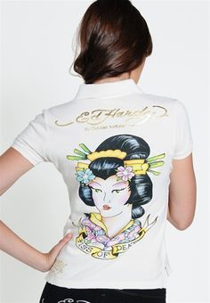 ED Hardy Mujer Camisa De Polo Mujer 7c3d39f3f5ae5