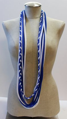 Custom T-Scarf: Royal Blue and White by MadewithLovebyLeslie
